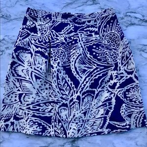 Loft purple and white floral skirt size 00P